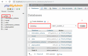 Create a Database in phpMyAdmin