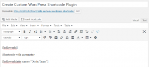 Create Custom WordPress Shortcode
