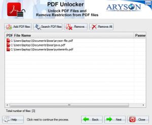 ArysonPDF Unlocker