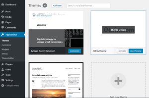 Activate Theme on Admin Dashboard