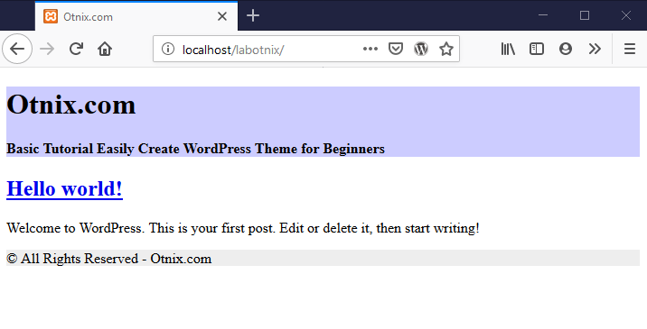 Test WordPress Site on the Browser
