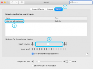 Configure the Mac Microphone